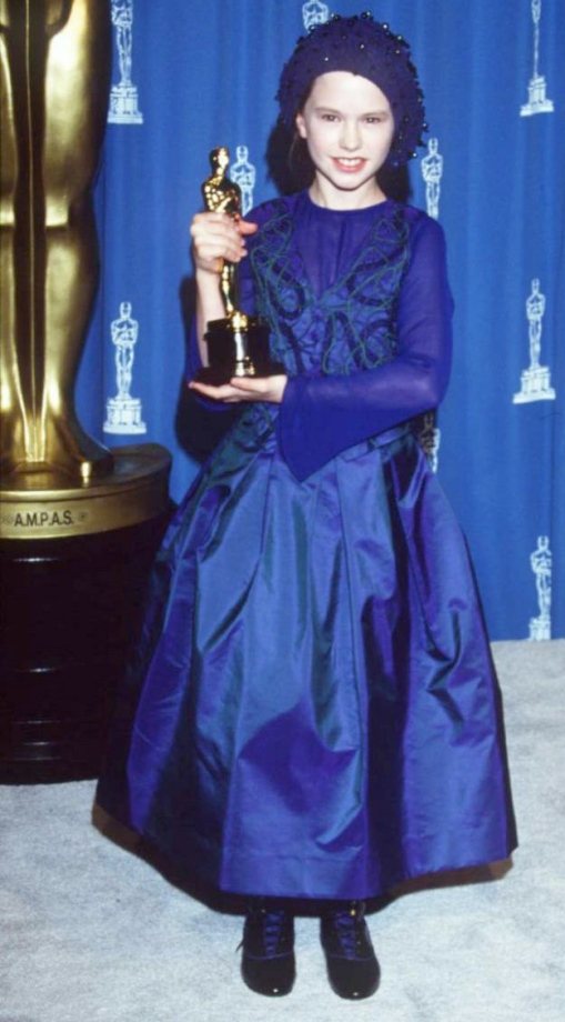 11 year old Anna Paquin wins Best Supporting Actress at the 1994 Academy Awards.