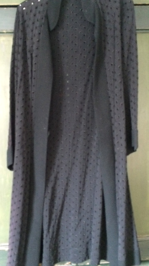 Vintage Embroidery Anglaise Black Maxi Cloak  £40