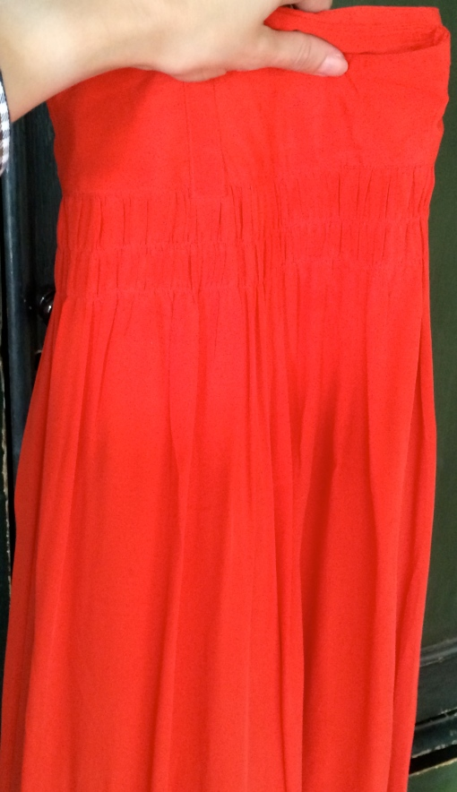 Preloved TOAST label Poppy Red Maxi Skirt £25